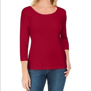 Karen Scott Top 2X NWT